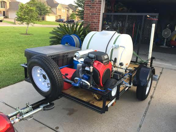 pressure washer trailer setup