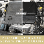 pressure wash car engine