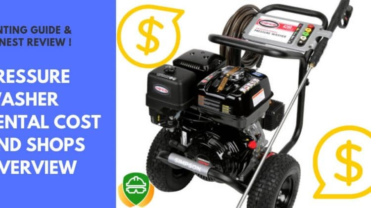 Cost to rent a pressure washer