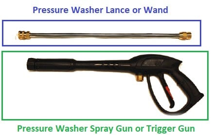 pressure washer spray gun/trigger gun and lance